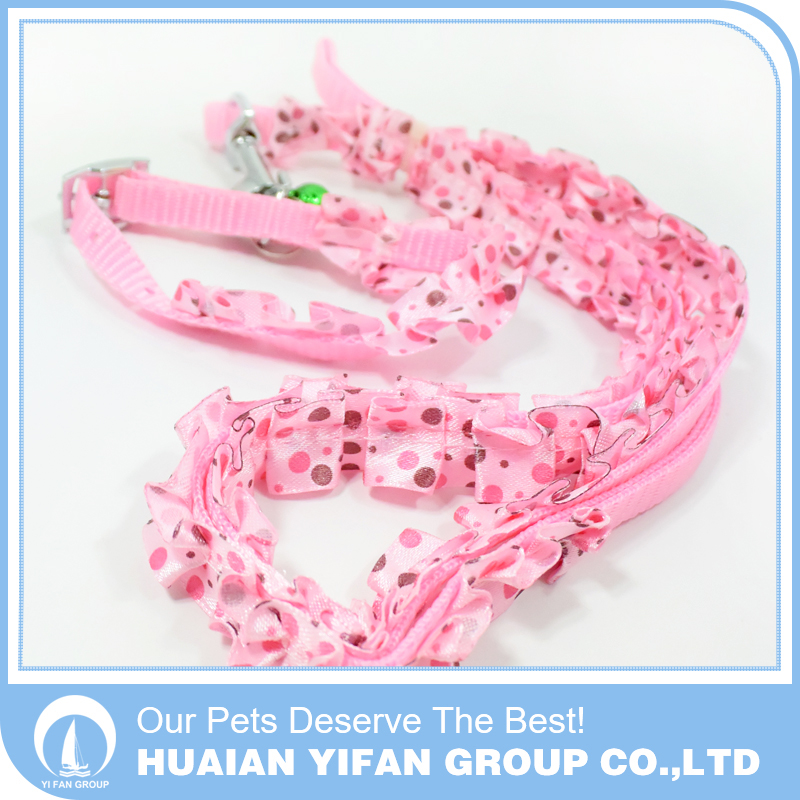1.0cm Dog leash metal clips beautiful lace collar and leash