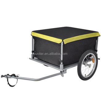 Bicycle Folding Cargo Trailer two wheels shopping cart shopping trolley luggage Dog Bike Cycle Cart Luggage Foldable