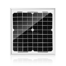 2017 hot sale mono 10w 18v solar kit solar panel with frame and glass