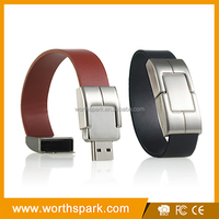 leather army wristband usb flash drive