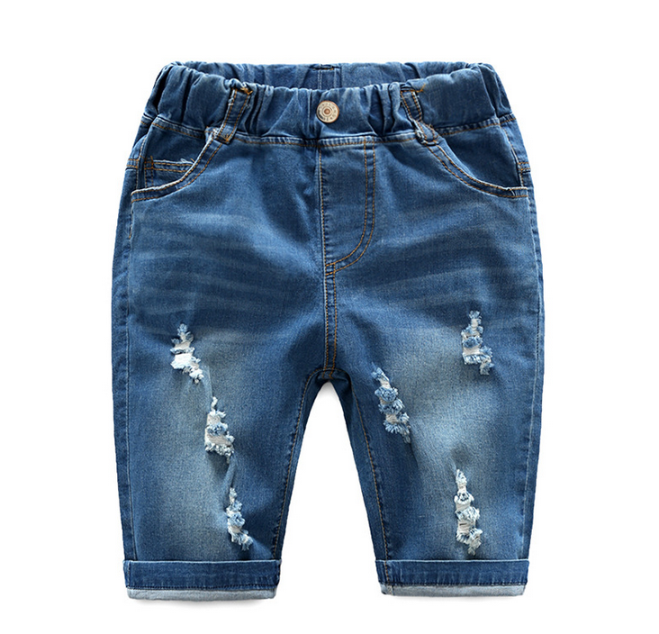 China supplier knited printed children clothes shorts jeans