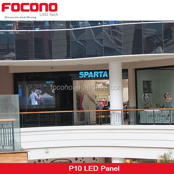 P10 Led Display Full Color Advertising Video Wall Led Window Display