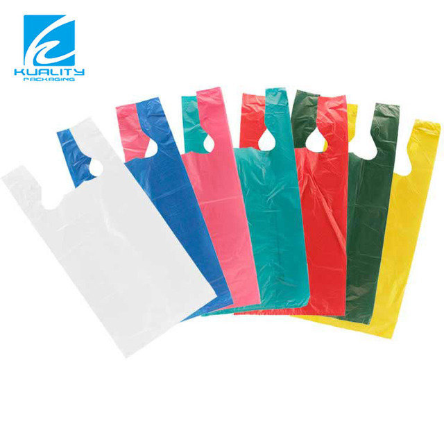 Biodegradable custom Transparent PE Ldpe Hdpe t shirt bag
