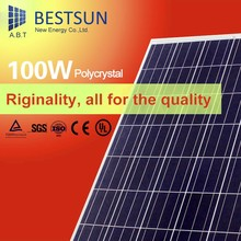 High efficiency Poly solar module 100Wp for rooftop black module