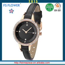 FS FLOWER - Fashion Nice Laides Watches Girls Fancy With Stone Leather Strap 3atm Waterproof