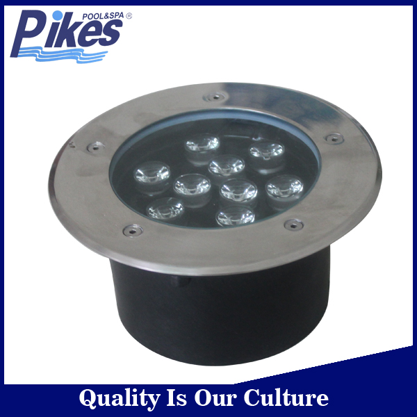 Different size swimming pool concrete pool light