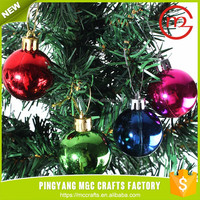 6 pcs colored tree ball hanging home decorating christmas plastic ornament