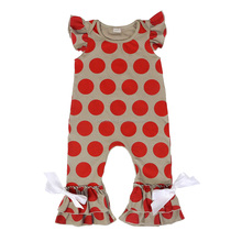 organic baby clothing polka dots bow newborn baby clothes romper