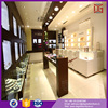 best quality jewelry store shop design counter pos display stand with shelves