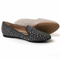 TONGPU High Quality Lady's Casual Shoes Rhinestone Espadrille Women Canvas Flats Women Slip-On Loafers