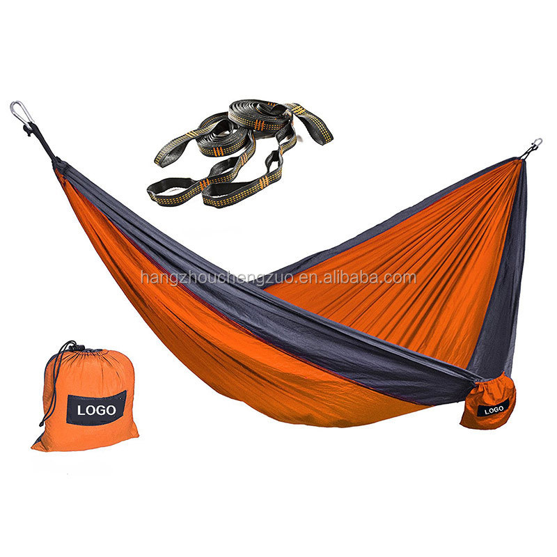 Hot Selling Nylon Cloth ultra-light Breathable Camping Hammock,CZD-025 Parachute Outdoor Swing Hammock,hammock Set