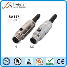 New Mini female XLR 4Pin Connector audio