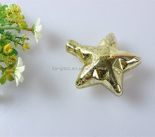 China import & export christmas tree decoration LED use heat resistant hanging colorful glass star ornament
