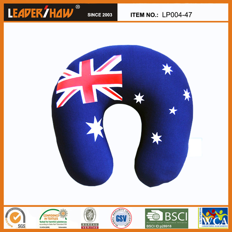 National Flag High Quality U Shape micro beads travel neck pillow