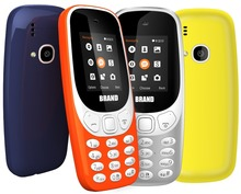 Unlocked GSM 1.77 inch feature bar phone 3310 quad band mobile made in China