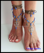 Exotic Design Boho Style Handmade Body Jewelry Locking Anklet