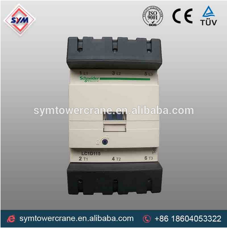 Chinese schneider contactor and lc1 d65 crane contactor for tower crane mechine