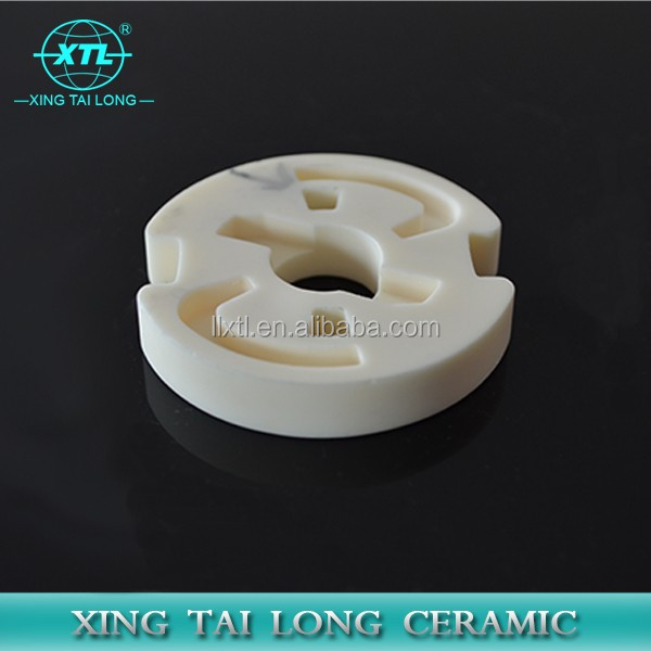 Dry press heat resistant 95% alumina ceramic parts for furnace