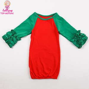 Baby Sleeping Icing Ruffle Gowns Beauty Wear Princess Christmas Newborn Gown