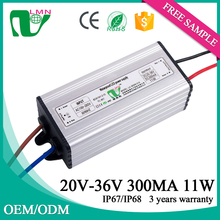 36V 11W driving illumination constant current led driver