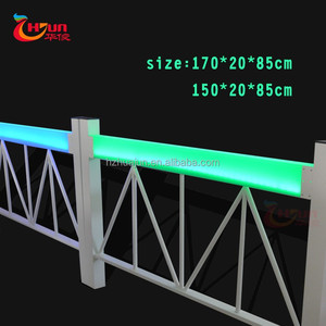 LED stainless steel portable outdoor aluminum railings for outdoor stairs aluminum decorative railing