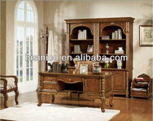 Antique hand carved study room table;American style wooded office furniture,Classical home office furniture (B14016)