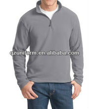 Men's fleece lining turtle neck long sleeve polo t shirt without hooded