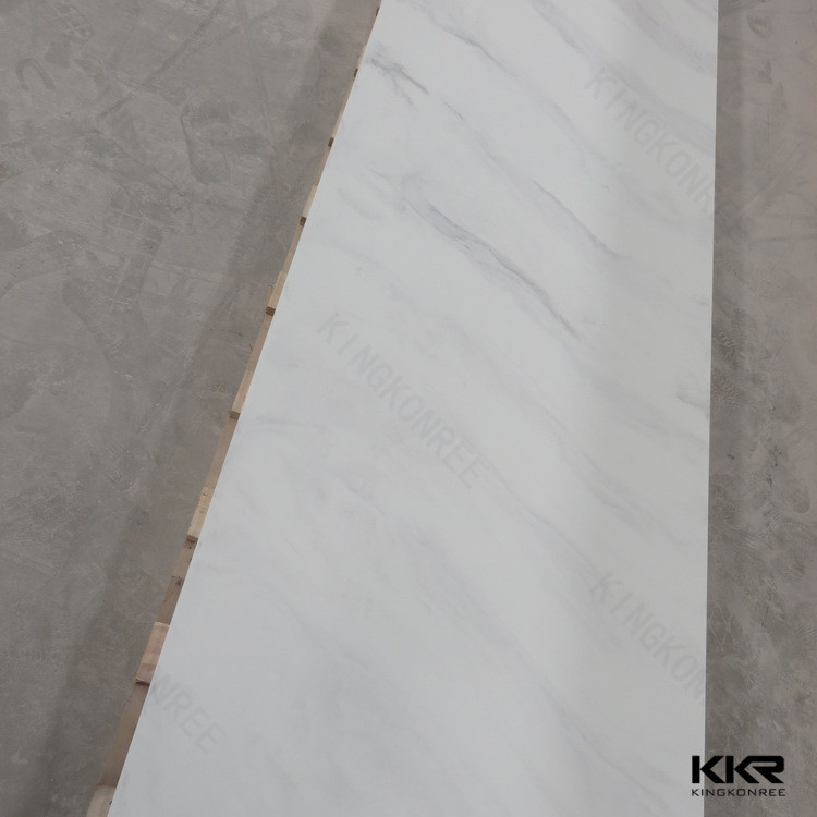 Decorative stone bricks / faux white marble solid surface sheets