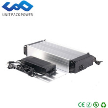 Silver Aluminium shell 48v lithium battery electric bicycle 48v 12ah li-ion battery with charger