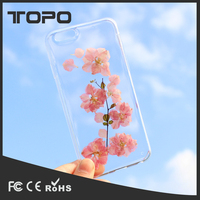 Real Pressed Dried Flowers Clear Silicone TPU Protective Plastic Soft Phone Case for iPhone 5 5 se 6 6s 7 plus