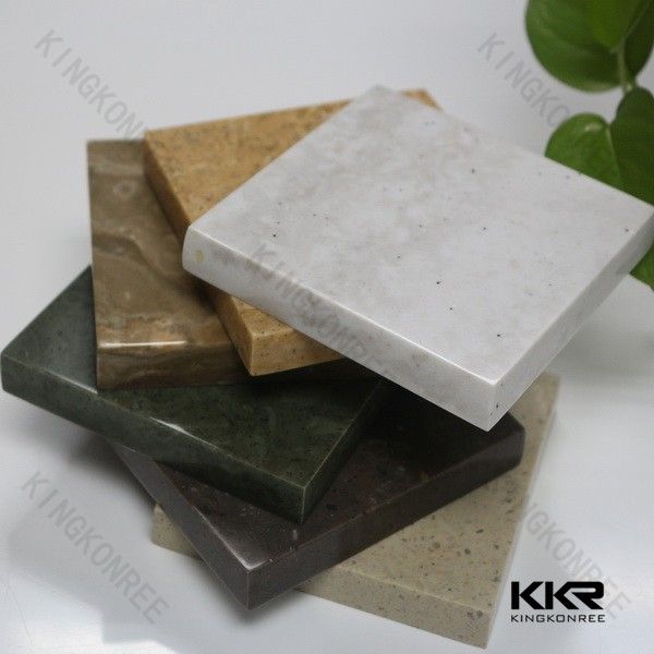 Construction Building Raw Materials Solid Surface Composite Marble Top Dining Table