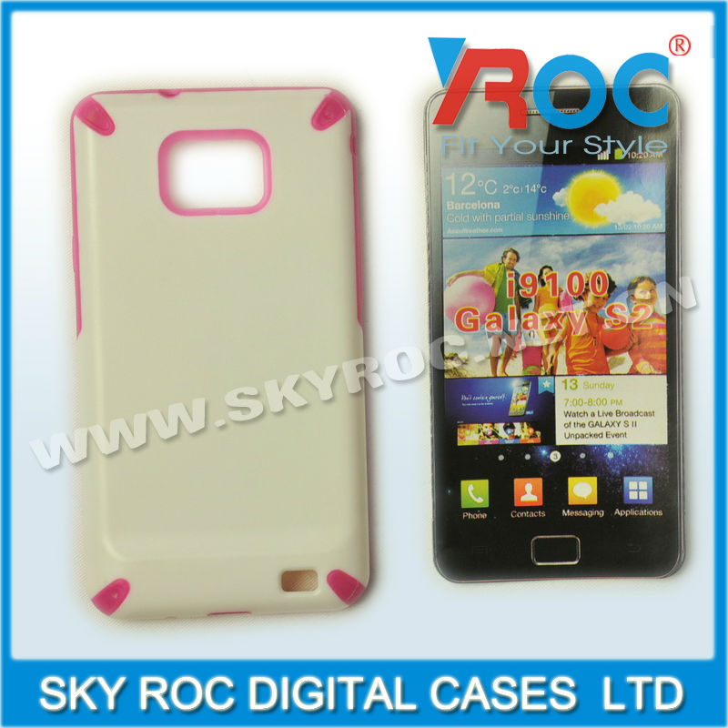 2013 New White Gel TPU case for Samsung galaxy S2 I9100