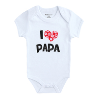 Newest special customize pure color organic baby clothes
