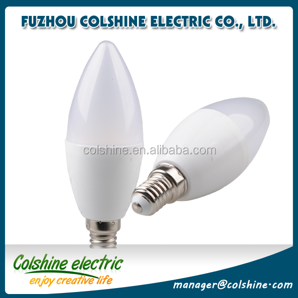 E14 E27 C37 3W 5W led candle light smd2835 cool/warm white bulb with tail Wholesale CE&ROHS