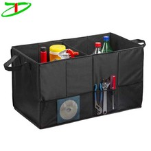 Multipurpose folding auto trunk grocery storage car trunk cargo organizer for groceries