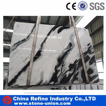 Panda white marble with black veins wall tiles