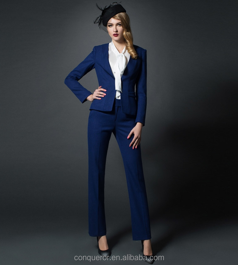 Made To Measure Slim Fit Ladies Royal Blue Suit