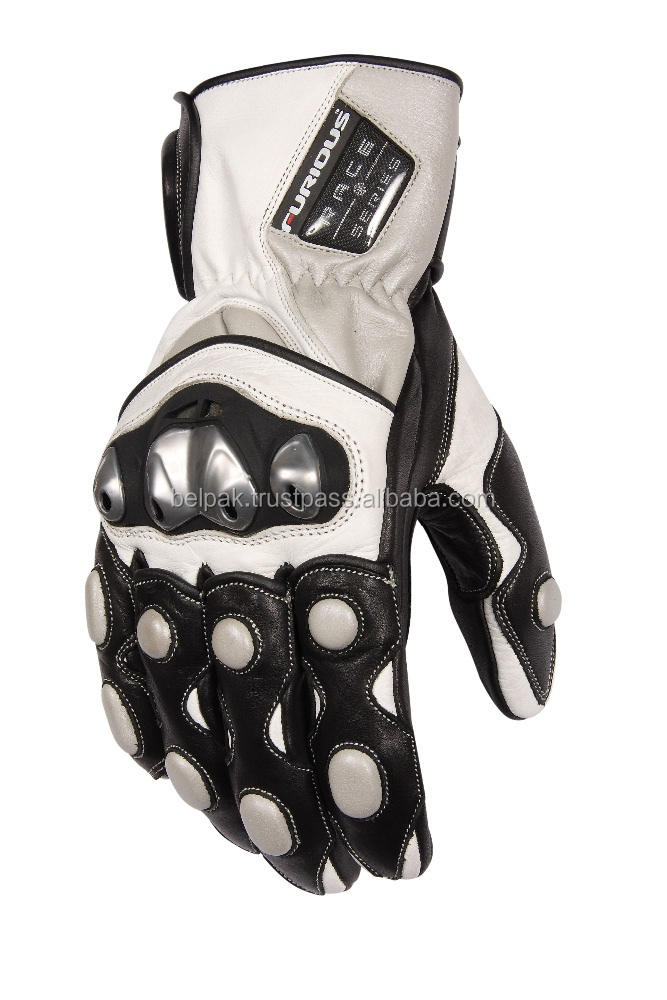 IRON-XP Furious - Motorbike Racing Leather Summer Gloves