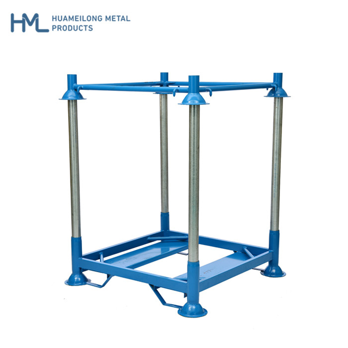Powder coating warehouse industrial steel heavy duty stacking big bag <strong>rack</strong>
