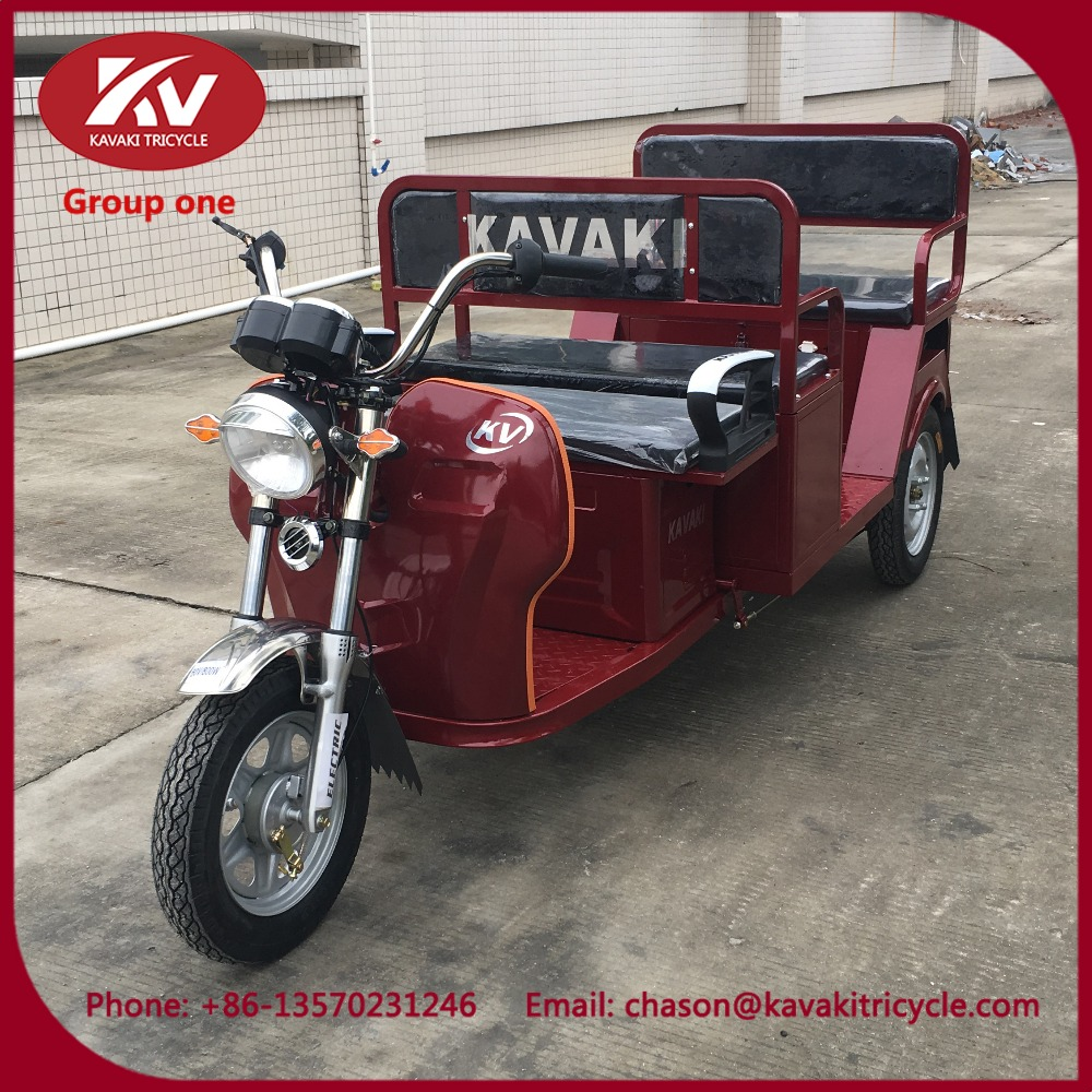 KAVAKI 5 passenger electric rickshaw three wheel motorcycles adult hot sell in Philippins