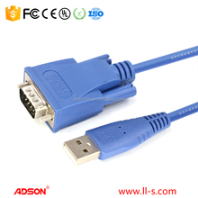 premium high speed USB 2.0 to serial RS-232 DB-9 converter cable with FTDI chipset