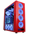 240mm Watercooling System PC Gaming case Toughened Glass Gaming case
