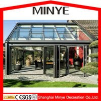 high quality aluminum profile glass balcony sunroom/greenroom/house/garden house/sunrooms
