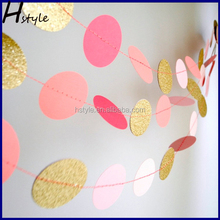 Wedding Hanging Decoration Tissue Paper Garland String Circle Banner Baby Shower Room Home Decor Lovely SD053