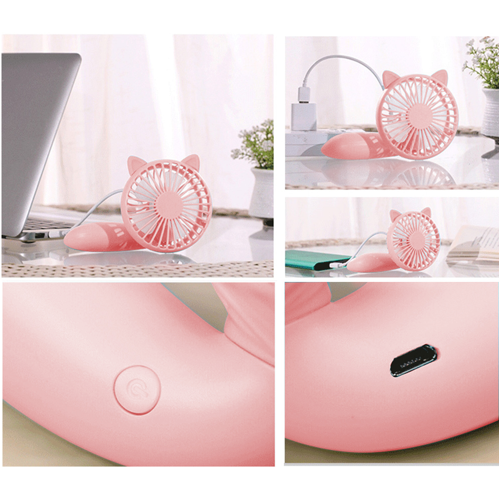Hot Style Super Cute Product New Design USB Mini Fan with Hand Holder