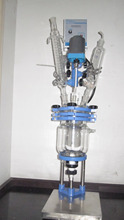Top Grade 2L chemical Labrotary Double Jacket Agitated Glass Reactor