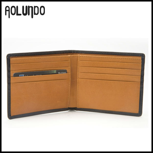 New Genuine Leather Credit Card Wallet Leather Product Factory