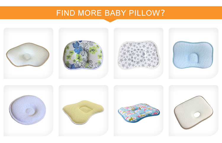 Custom light blue strong support adjustable baby shaping 3D air spacer mesh pillow