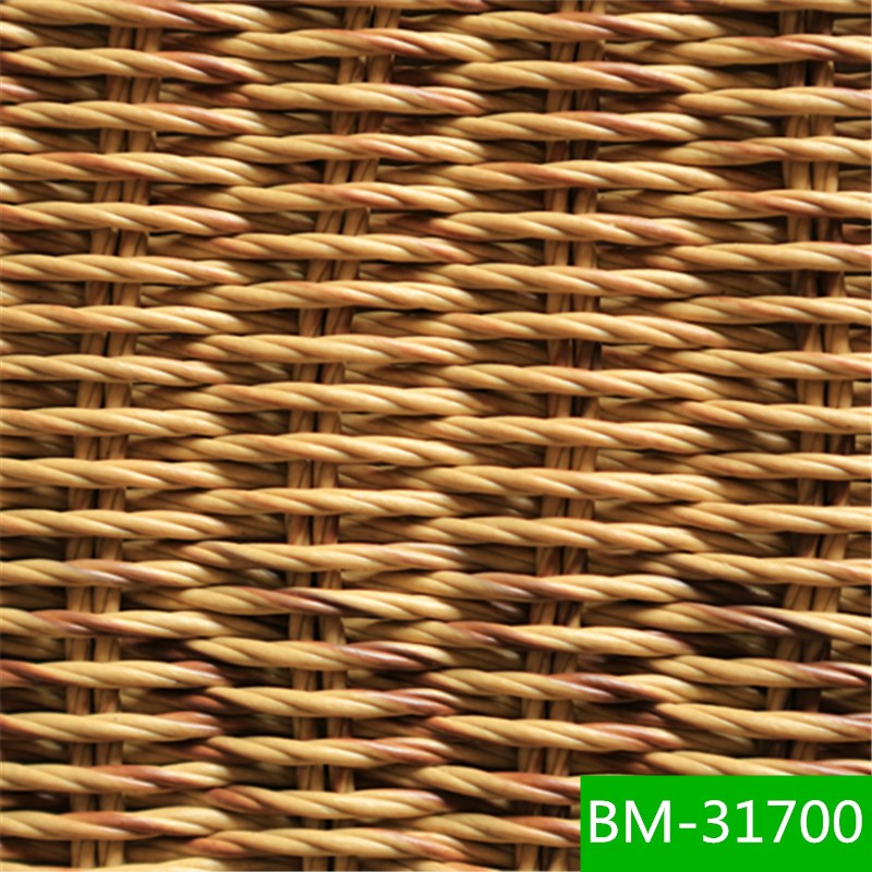 Durable non fading twisted pe plastic wicker raw making material for outdoor furniture