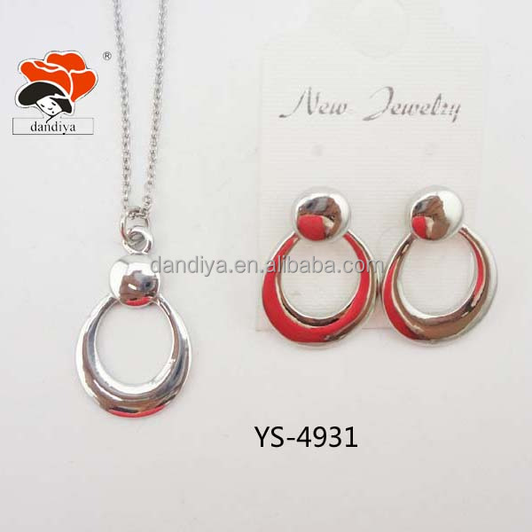 Latest Alloy Ellipse Middle East/Europe Noble Jewelry set